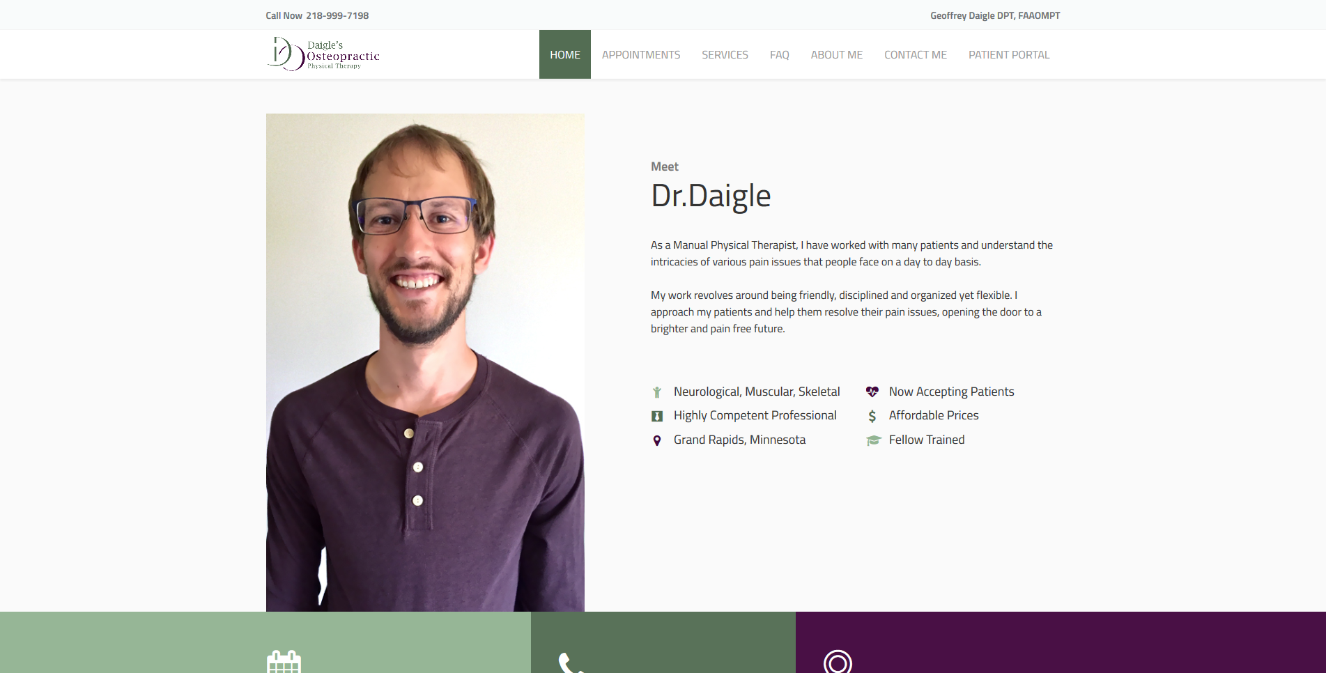 Medical Web Design by Big Groovy Designs