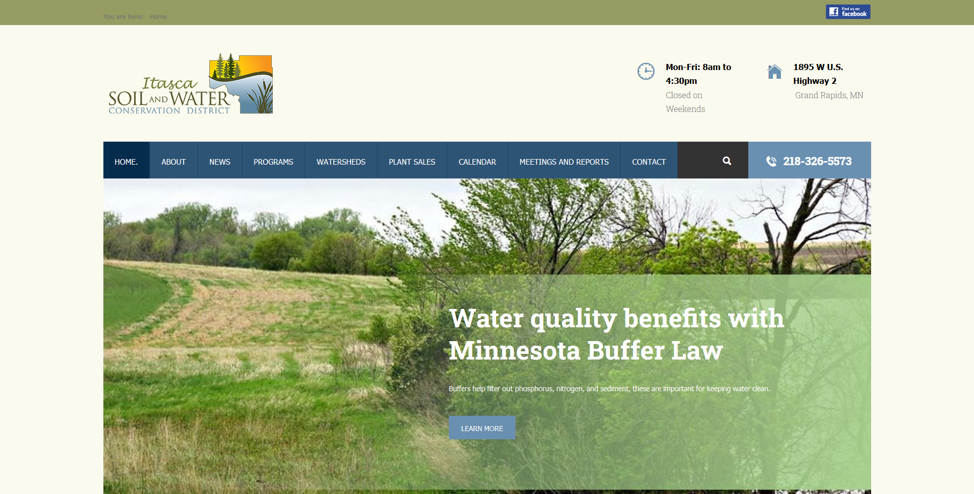 Conservation District website by Big Groovy Designs