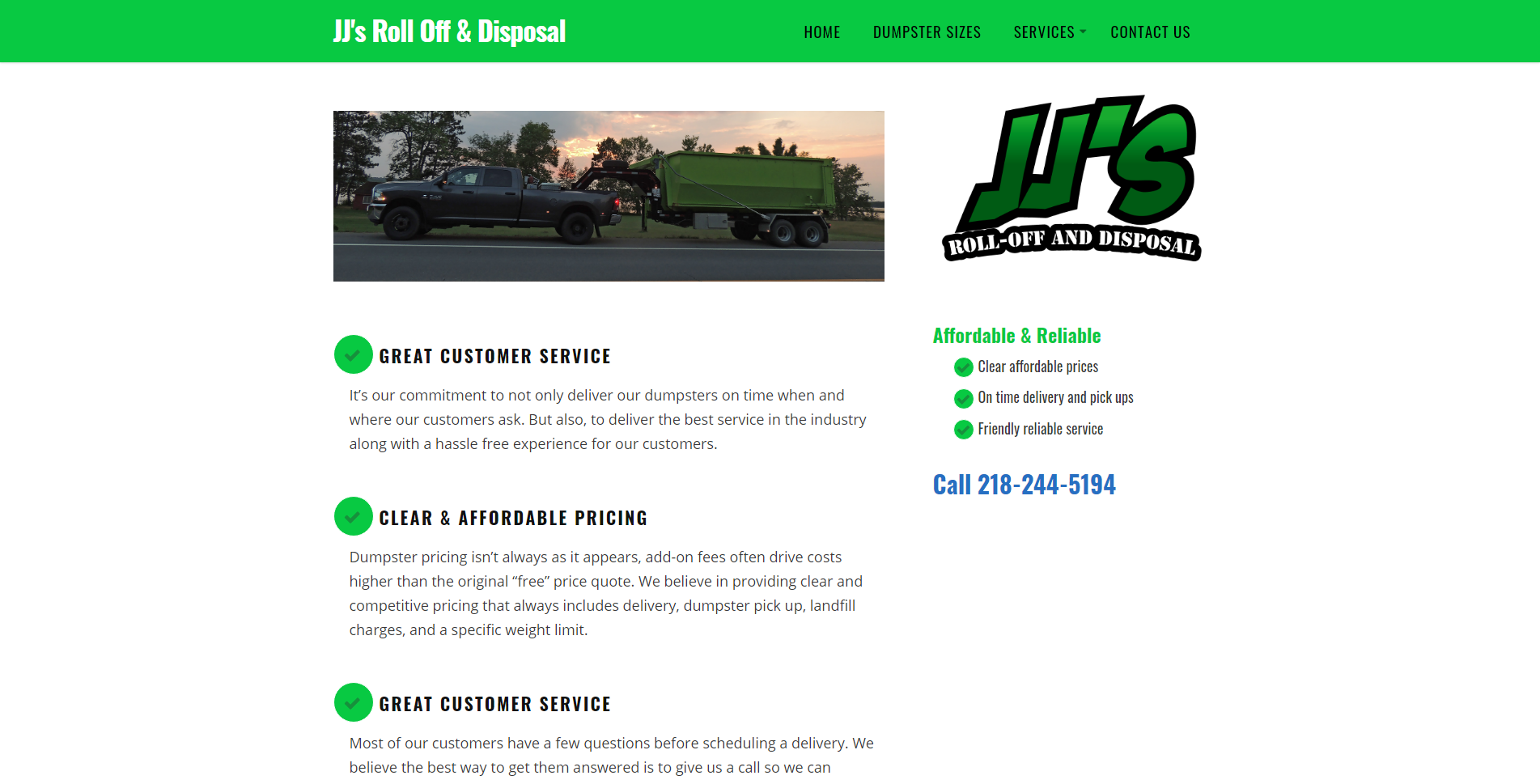 Disposal website by Big Groovy Designs