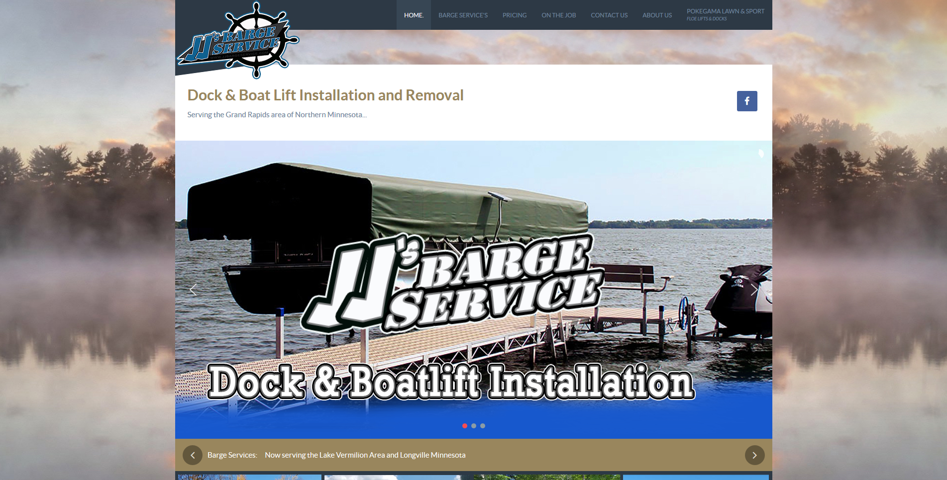 Barge website by Big Groovy Designs