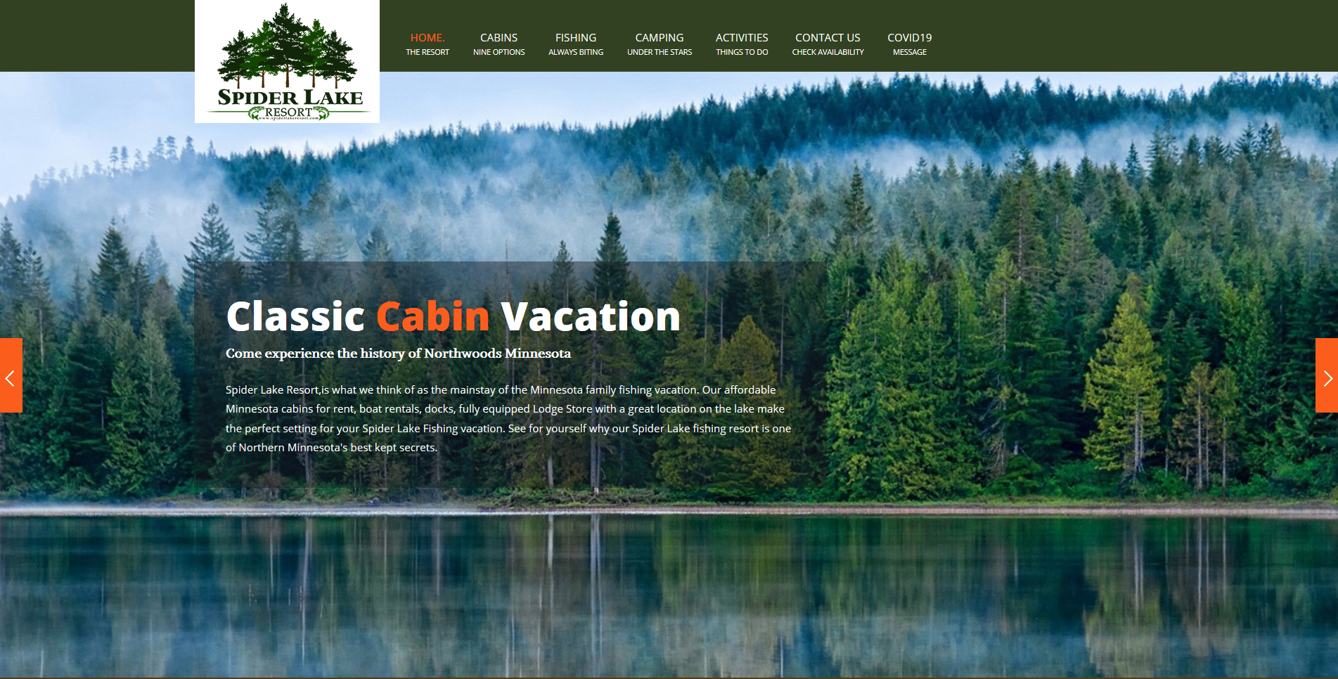 Resort web design by Big Groovy Designs