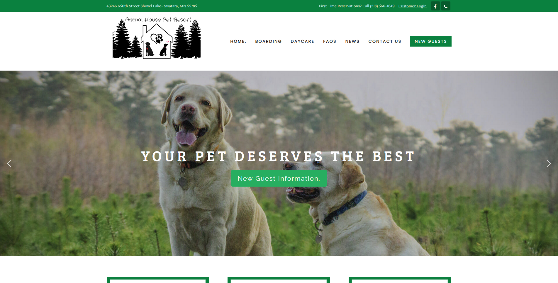 Pet Web Design by Big Groovy Designs