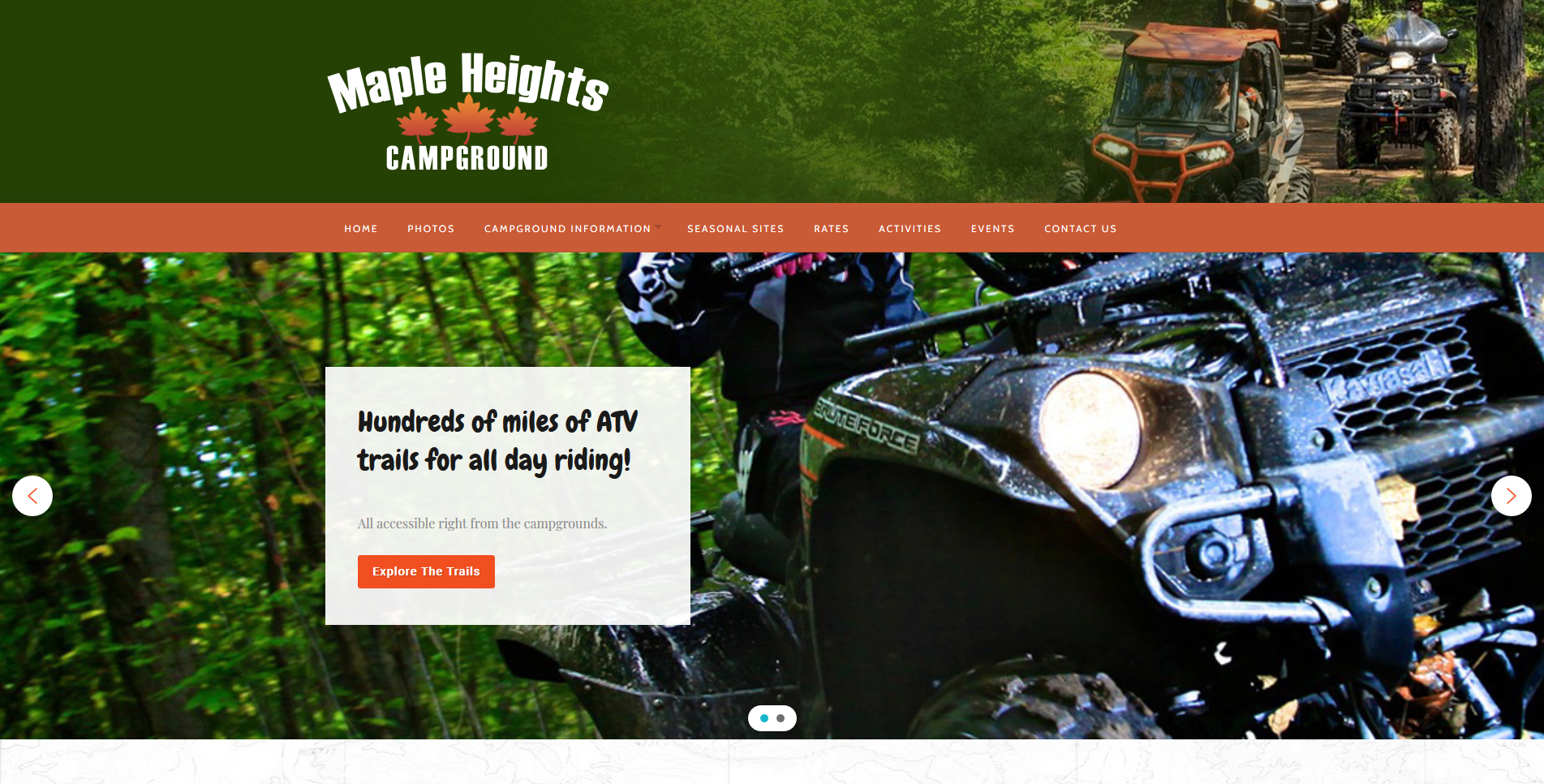 Campground Web Design by Big Groovy Designs