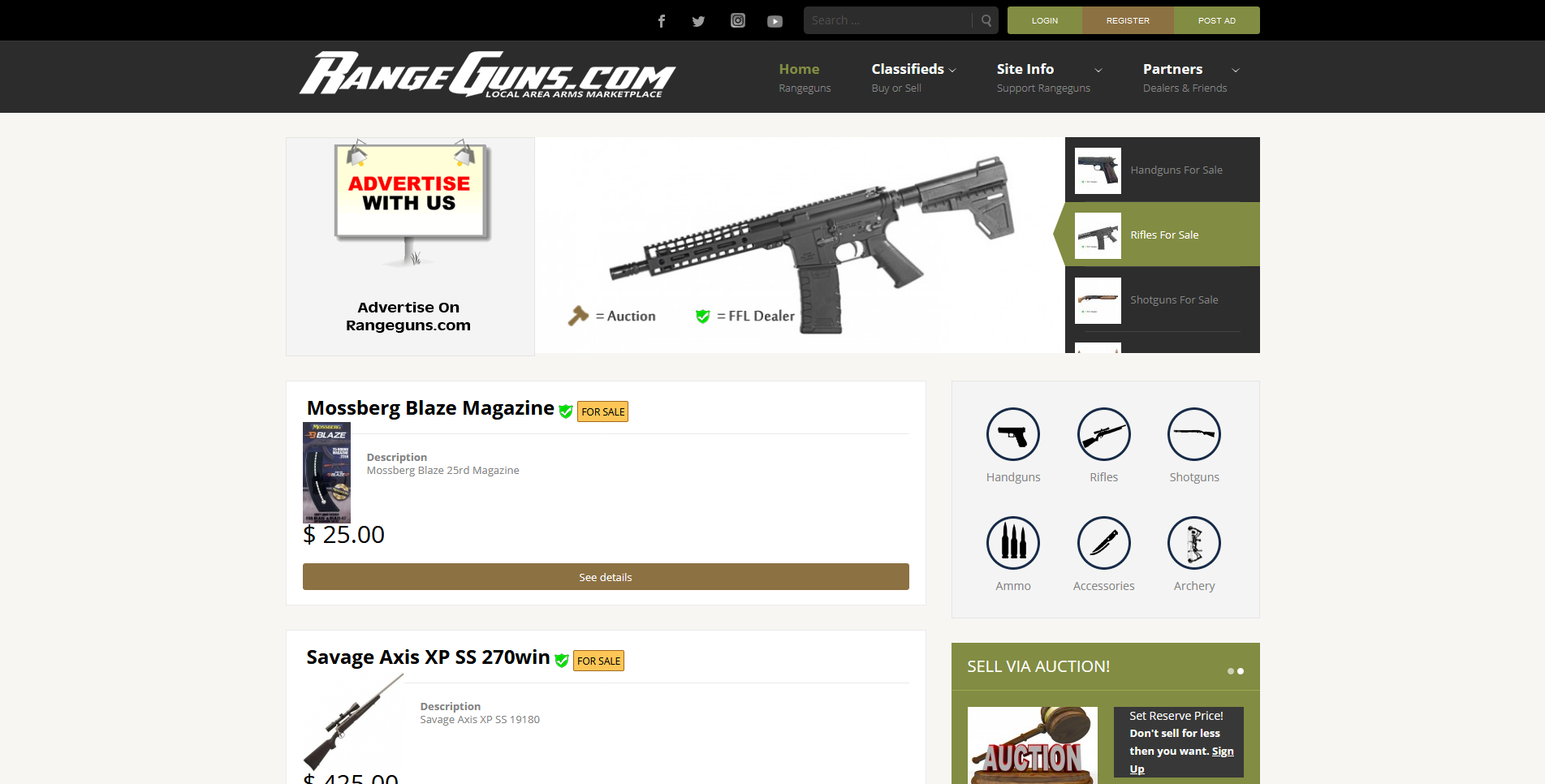 Gun Websites by Big Groovy Designs